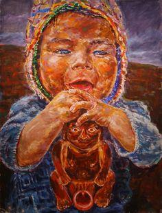 "Yury Ermolenko, ""PERUVIAN TOYS"" project, 2009, acrylic on canvas, 200x150 cm. #Painting #YuryErmolenko #Ermolenko #ЮрийЕрмоленко #Ермоленко #PERUVIAN #TOYS #project #acrylic #canvas #Art #ContemporaryArt #FineArt #ModernArt #acrylicpainting   #Peru #NazcaCulture #RecuayCulture #ViruCulture #VicusCulture #ChimuCulture #MocheCulture #painting #sexytoy #hot #sexytoys #yuryermolenko #modernart #contemporaryart #sexy #child #children"