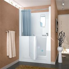 venzi 27x47 right drain white soaking walk in bathtub - Step In Bathtub