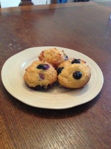 Paleo Keto Blueberry Muffins  I used melted butter, heavy cream, and 1.5 drops of ezsweet. Left out the berries and used natural locally made jams and preserves as a spread.