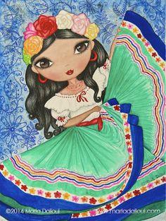 Mexicana bailando la