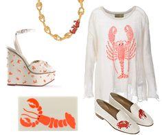 Seafood Prints - Lobster Prints Clothes Shoes Purses - Elle