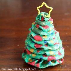 Fabric Scrap Christmas Tree