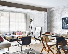 Fabulous Interior Designs With White Brick Walls You Need To See