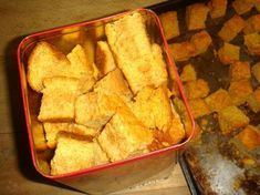 Buttermilk Rusks - Old Style & Favourite South-African Recipes. Veganize by making buttermilk (add one tablespoon of white vinegar or lemon juice to a cup of soymilk to replace buttermilk and mix well) & use egg replacer How To Make Buttermilk, Buttermilk Substitute, Buttermilk Rusks, Rusk Recipe, South African Recipes, Food Inspiration, Kos, Food To Make, Food And Drink