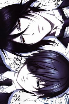 Ciel looks sad.... and Sebastian... he's just Sebastian: hot.sexy.adorable.beautiful. and he's mine! ~Black Butler