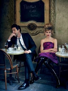 "Natalia Vodianova & Adrien Brody by Peter Lindbergh for Vogue US July 2015 (""L'amour Toujours"")"