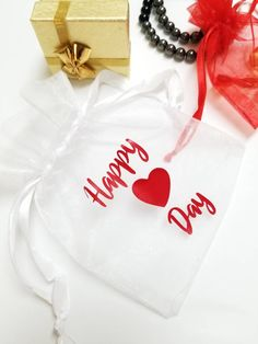 Items similar to Valentines Happy Heart Day Personalized Organza Bags - Fabric Favour Bags Personalized Gift Bags, Happy Hearts Day, Party Gift Bags, Custom Stationery, Drawstring Pouch, Candy Bags, Organza Gift Bags, Printed Bags, Favor Bags