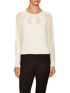 Cashmere Cable Stitch Sweater