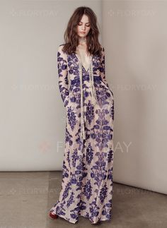 Cotton Others Long Sleeve Maxi Casual Dresses