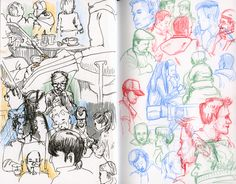 People by @koosje #artforall #sketchbookskool #drawing