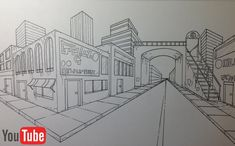 Two point Perspective Cityscape by Akium ...