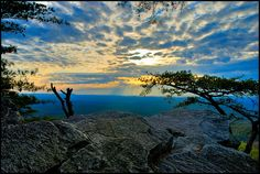 A view from atop Cheaha Mountain in Cheaha State Park,  Alabama.  Cheha is the highest point in Alabama at 2,407 feet above sea level.