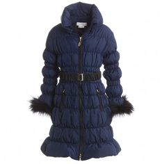 Parrot Girls Blue Down Padded Coat at Childrensalon.com