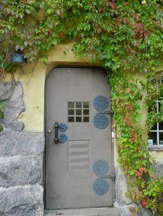 Helsinki Rock Houses, House On The Rock, Grand Entrance, Next Door, Door Ideas, Helsinki, Windows And Doors, Finland, Gates