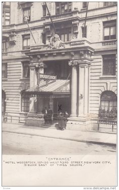 "RP: ""Entrance"" , Hotel Woodstock , New York City , PU-1908"