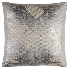 Decorating ideas with metallic finishes - Fiona modern silver throw pillow design