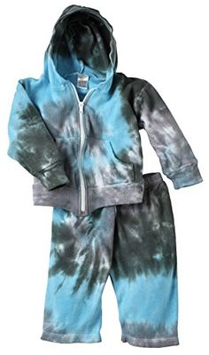 Chillykids Unisex Baby 100 Cotton Tie Dye Print Hoodie Set  Grey Size 612 Months ** You can find out more details at the link of the image.Note:It is affiliate link to Amazon.