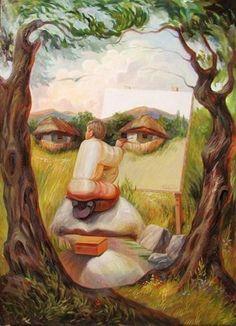Optical Illusion Paintings by Ukrainian artist Oleg Shuplyak