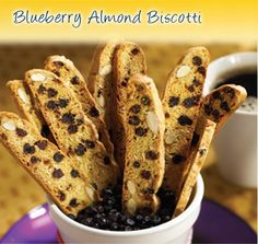 Our favorite Blueberry Almond Biscotti!