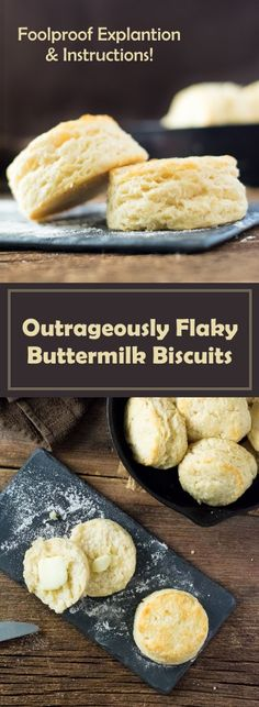 Outrageously Flaky Buttermilk Biscuits Outrageously Flaky Buttermilk Biscuits recipe via Fox Valley Foodie Flaky Buttermilk Biscuits Recipe, Best Biscuit Recipe, Flakey Biscuits, Cooking Bread, Baking Recipes, Baking Breads, Muffin Recipes, Healthy Recipes, No Bake Desserts