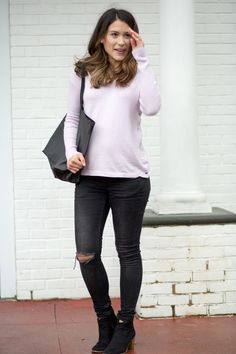 Lavender Nursing Sweater - Maternity Style