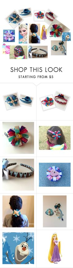 """""""Princess and more... bows and headband for girls"""" by franka-stone ❤ liked on Polyvore featuring Disney, Peppa Pig and York Wallcoverings"""