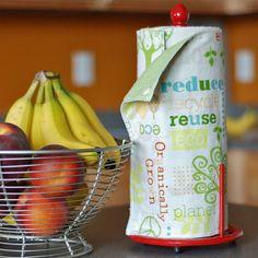 Waschbare Küchenrollen - geniale Idee für Stoffreste!