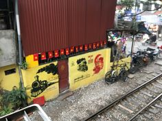 Opposite the cafe on Train street in Hanoi. Hanoi, Train, Street, Roads, Walkway, Trains