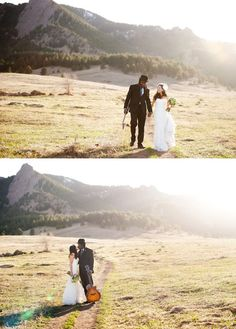 gorg boulder wedding.  Love the lighting in the photos.