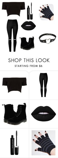 """""""Emo"""" by nerdyhazel ❤ liked on Polyvore featuring interior, interiors, interior design, home, home decor, interior decorating, Dr. Martens, Lime Crime, Marc Jacobs and black"""