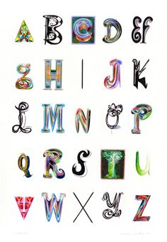 Alphabet With Monogram: Not A Font by Ed Fella