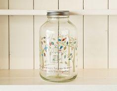 """צנצנת זכוכית 1800 מ""""ל - Under the tree Mason Jars, Rice, Decor Ideas, Homes, Design, Home Decor, Houses, Decoration Home, Room Decor"""