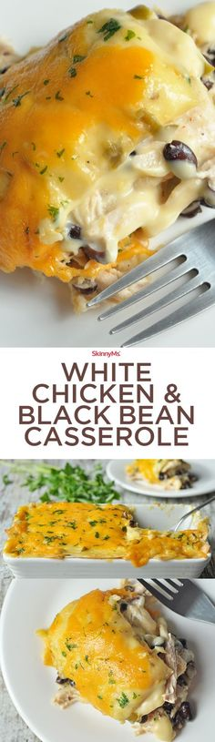 Get excited!!! :) This White Chicken & Black Bean Casserole is insanely good!