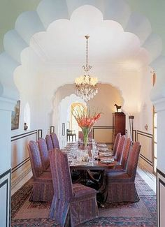 The walls glow with aarish, a glaze of white lime, ground marble and eggshells