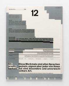 Wolfgang Weingart 12 Sprachencharta-Gebrauchsgrafik