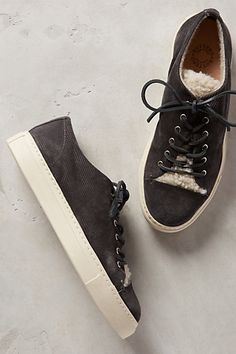 ANTHRO Buttero Shearling Lace-Ups | these are cool. but so, so, so overpriced..