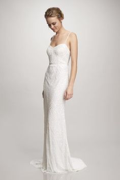 Theia, Marion beaded slip gown