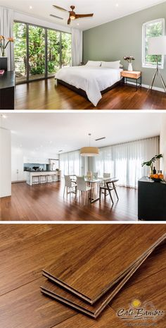 Beautiful, eco-friendly bamboo floors for a Florida home // Solid bamboo flooring that looks like brown hardwood floors