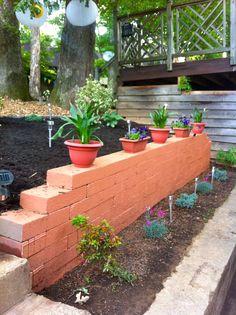 DIY Retaining Wall www.decorellaknox.com