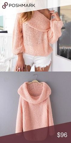 Cowl Neck Off Shoulder Chunky Loose Knit Sweater ❌ Sorry, no trades. fairlygirly fairlygirly Sweaters Cowl & Turtlenecks