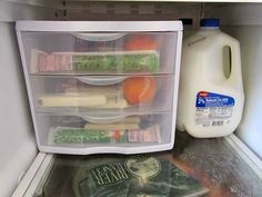 8 Clever Refrigerator Organizing Ideas- You don't need a bigger fridge, you just need to re-organize the one you have! Check out these clever refrigerator organizing ideas and gain fridge space! | home organization, organize your home, organizing tips, kitchen organization, how to organize your fridge, DIY organization