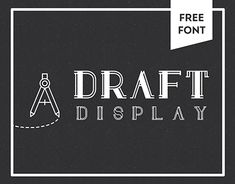 "Check out this @Behance project: ""Draft Display: FREE FONT"" https://www.behance.net/gallery/17521595/Draft-Display-FREE-FONT"