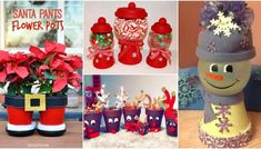 20 diy clay pot christmas decorations that add charm to your holiday décor Flower Pot Crafts, Clay Pot Crafts, Diy Clay, Flower Pots, Diy Crafts, Shell Crafts, Dollar Store Christmas, Diy Christmas Gifts, Christmas Projects
