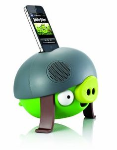 Gear4 PG543G Angry Birds Helmet Pig Speaker. Want it? Own it? Add it to your profile on unioncy.com #gadgtes #tech #electronics