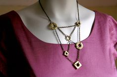 Salvaged Hardware Necklace - Nuts and Washers by Objects and Subjects