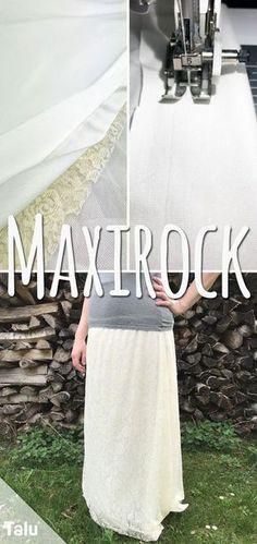 Kostenlose Anleitung - Maxirock nähen - Talu.de