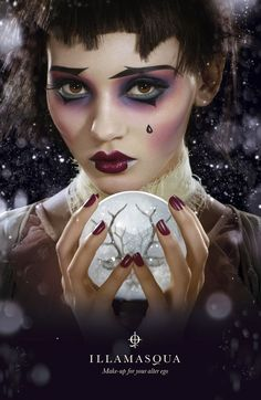 I am in LOVE with this picture! From Illamasqua…. Illamasqua's New Christmas Picture! Makeup done by Legendary Makeup Artist Alex Box! She is my inspiration… Hopefully one day I will be producing Images like this for my portfolio… Karla X Makeup Box, Beauty Makeup, Eye Makeup, Makeup Ideas, Doll Makeup, Makeup Inspo, Maquillage Halloween, Halloween Face Makeup, Makeup Artist Portfolio