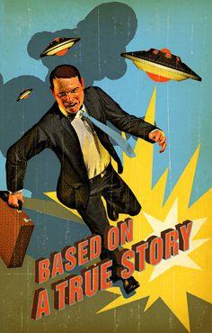Tavis Coburn - Harvard Business Review, Cover illustration and typography for Storyteller article ::: www.dutchuncle.co.uk/tavis-coburn-images