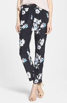 Joie 'Talina B' Floral Print Silk Pants available at #Nordstrom