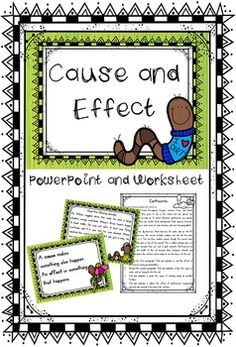 Cause and effect PowerPoint lesson. This PowerPoint is perfect to keep your students engaged while learning about cause and effect. $